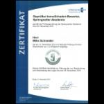 Zertifikat Urkunde
